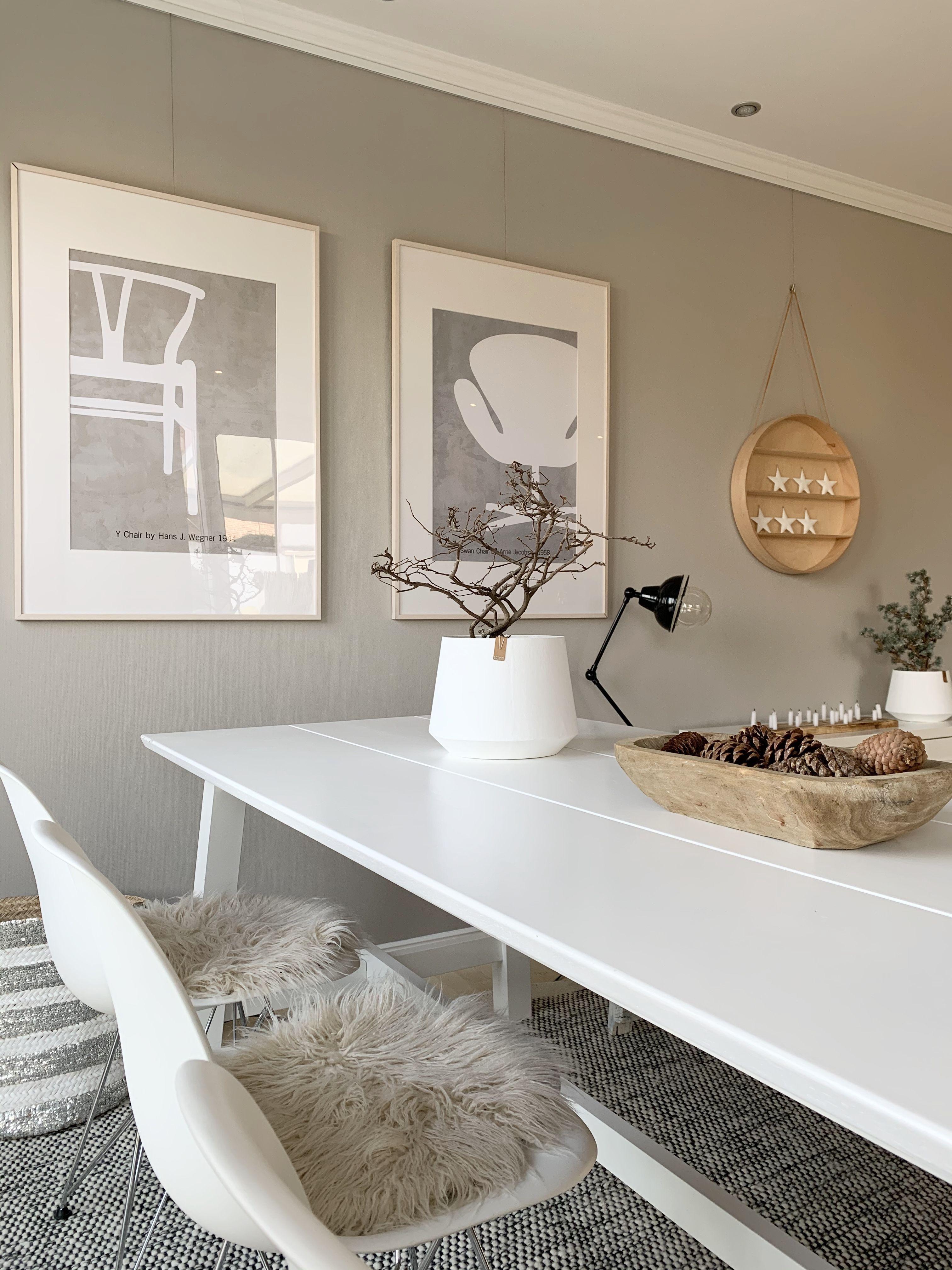 Wohn Und Esszimmer In Greige Kolorat In 2020 Wandfarbe