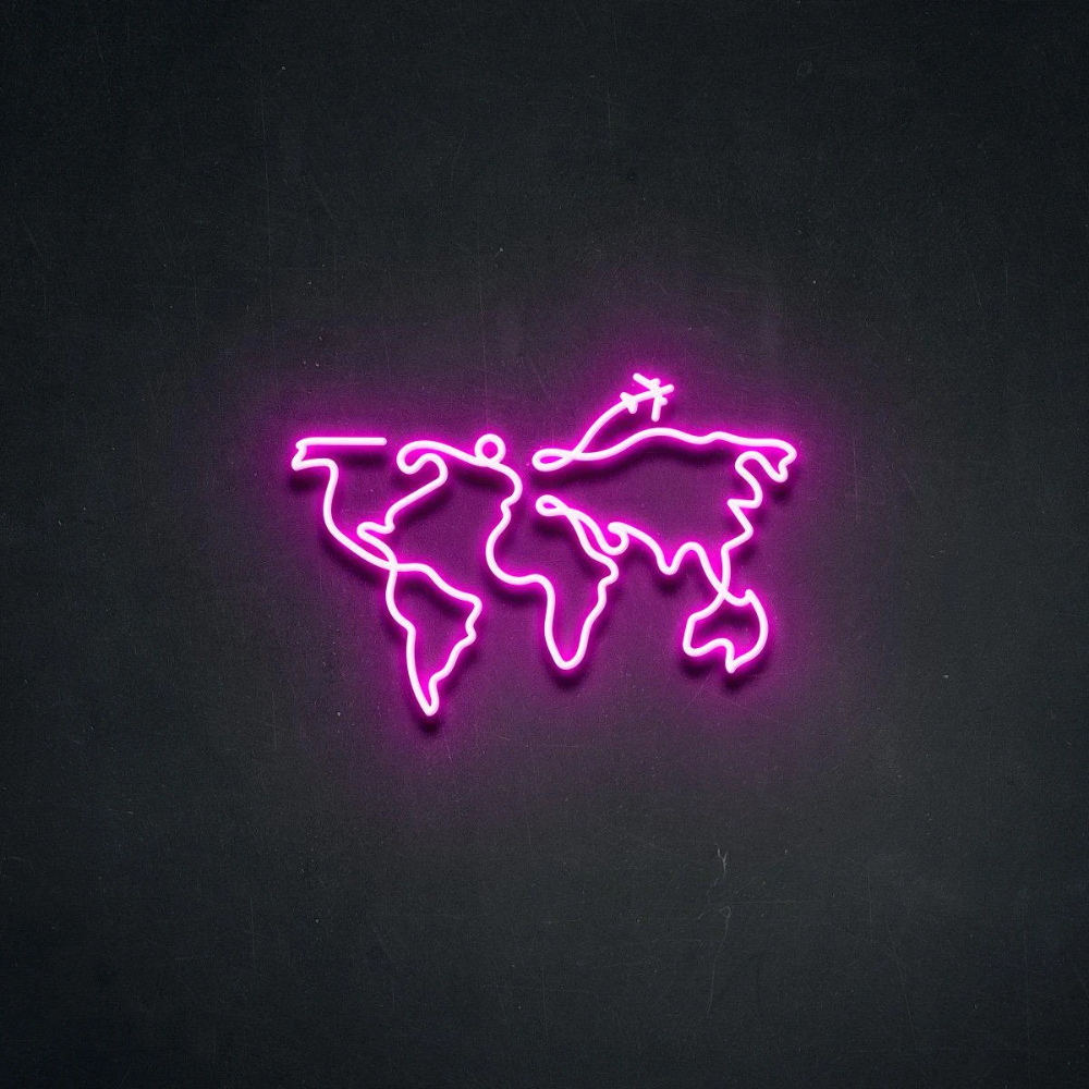'Frequent Flyer' Neon Sign in 2020 Neon signs, Pink neon