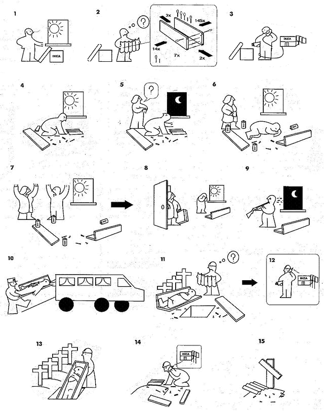 Pin by cristina s ez on manual pinterest humor and for Instrucciones muebles ikea