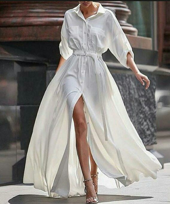 This long men's inspired dress is an amazingly easy and go-to summer dress!!