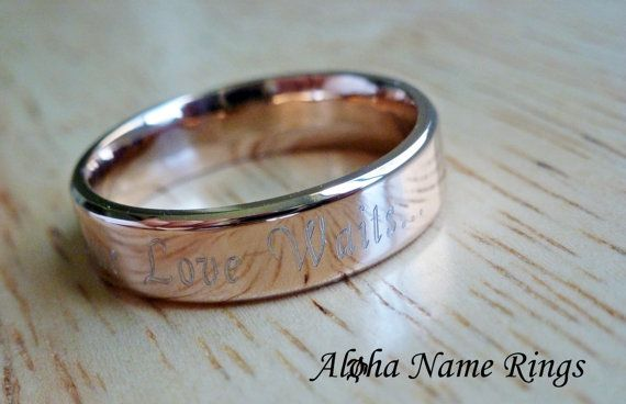 Personalized True Love Waits... Promise Ring by AlohaNameRings