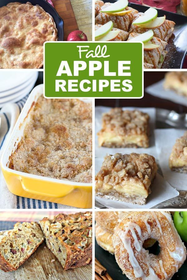Fall Apple Recipes You Need Apple recipes that you need for fall Here is a collection of 30 of the best apple recipes that are PERFECT for fall From apple doughnuts to ap...