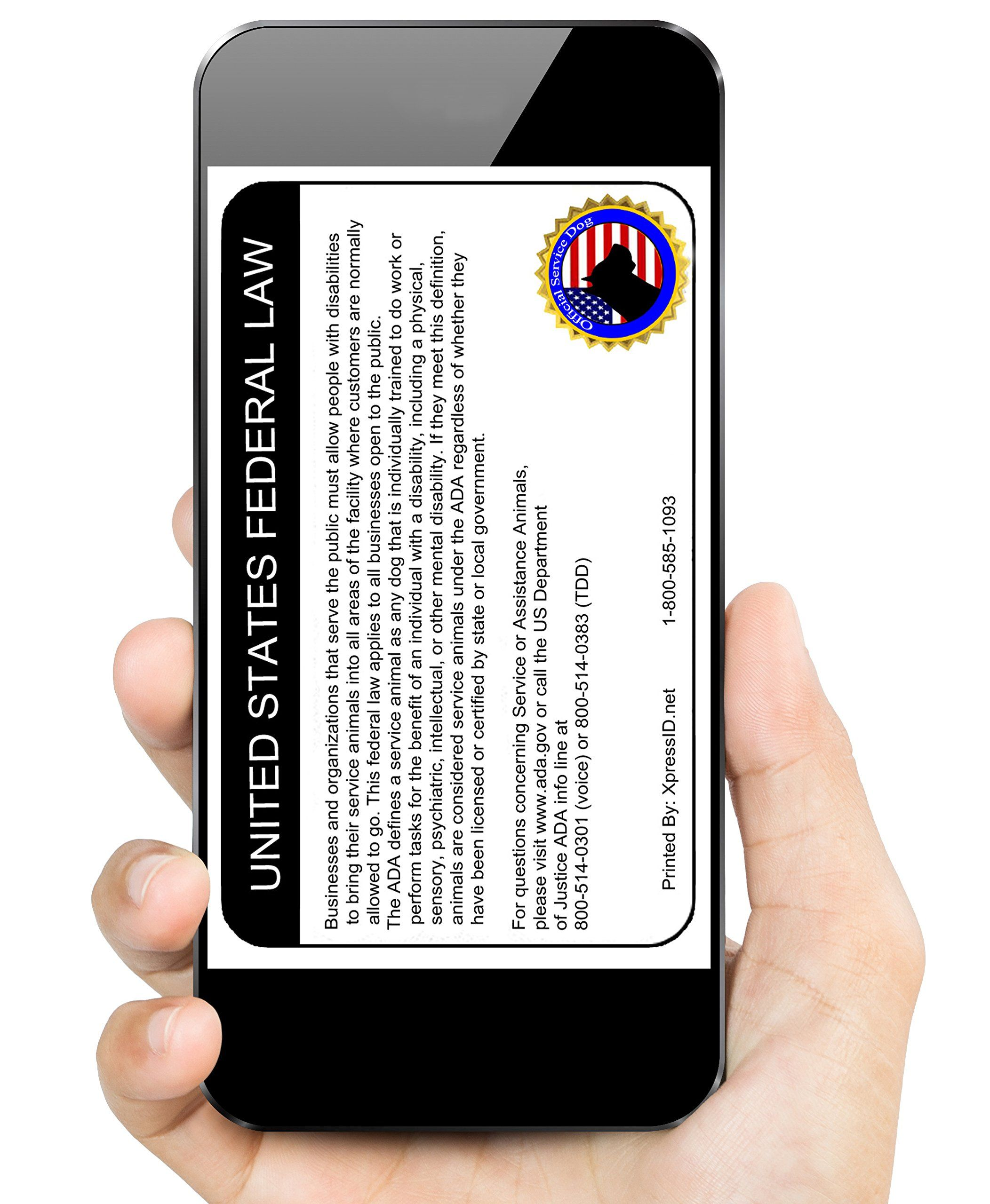 Digital And Physical Service Dog Id Custom Bundle Includes Registration To National Dog Registry You Can Find Out More Service Dogs Dog Id Service Animal