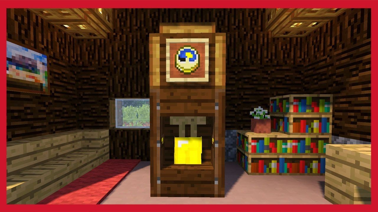 Come Fare Camino Su Minecraft Minecraft Come Fare Un Orologio A Pendolo Tutorial Minecraft