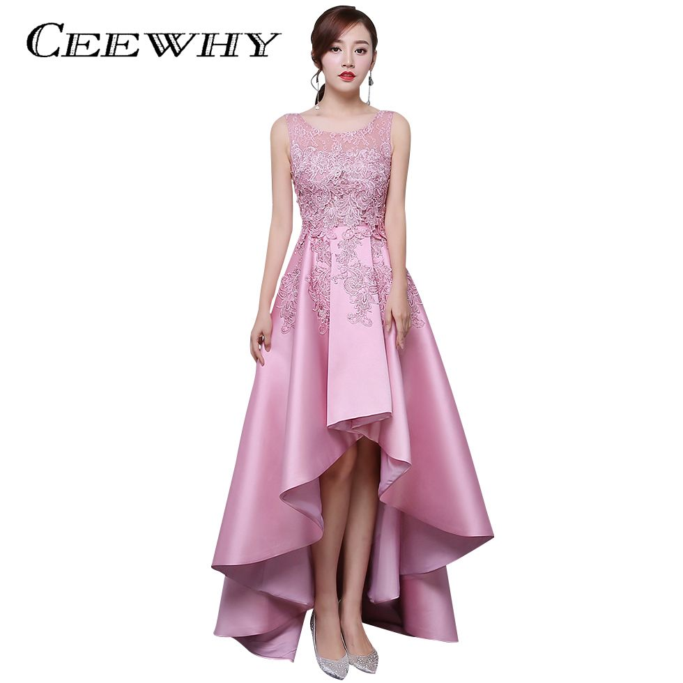 Click to Buy << CEEWHY Candy Color Asymmetrical Evening Dress Short ...
