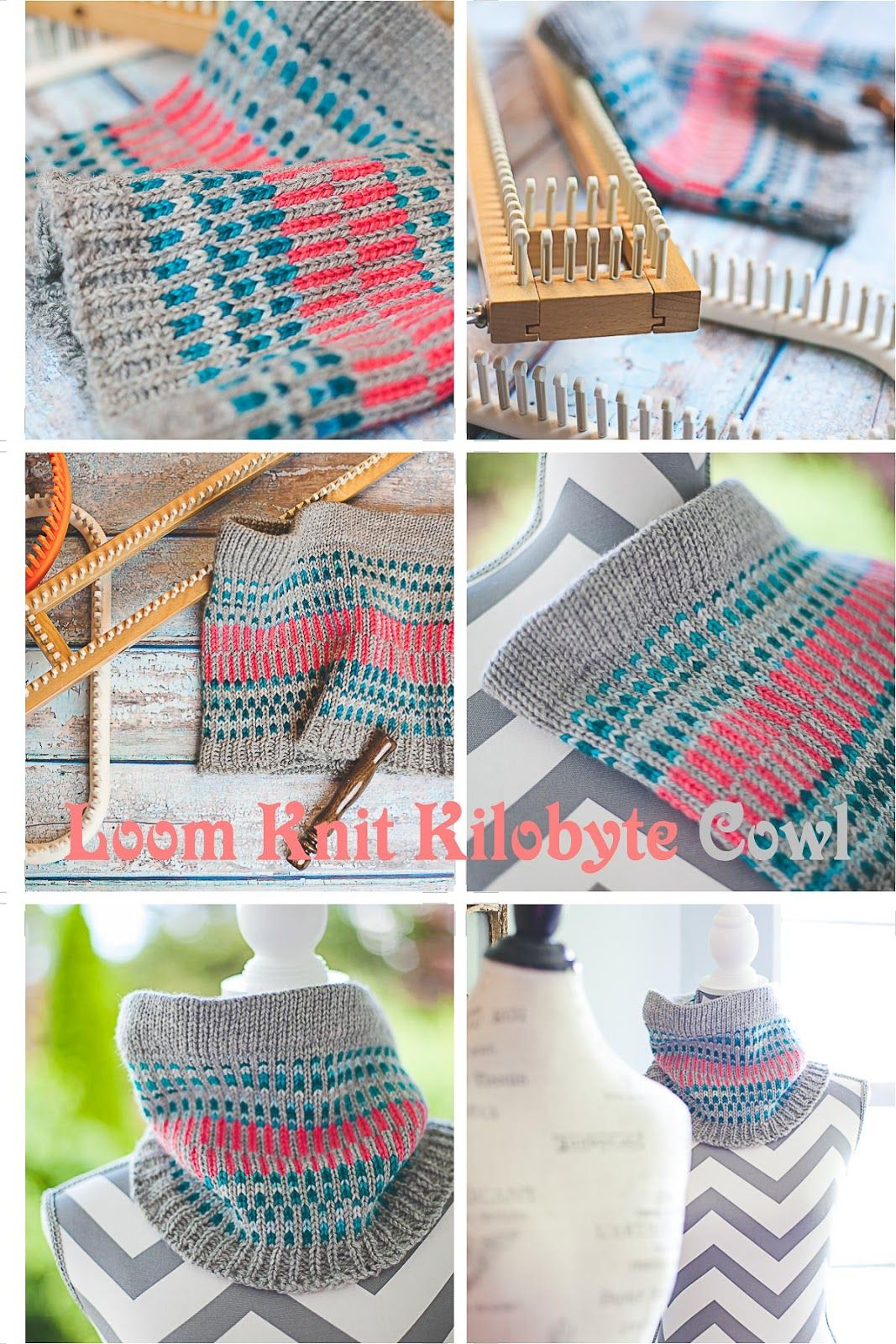 Loom Knit Cowl Pattern (Free) | Loom Knitting by This Moment is Good! #loomknitting