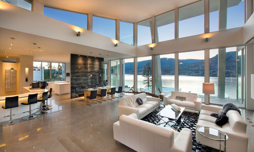 Ultramodern House On On The Edge Of British Columbia S Okanagan Lake Modern Lake House Small House Interior Design Modern Houses Interior