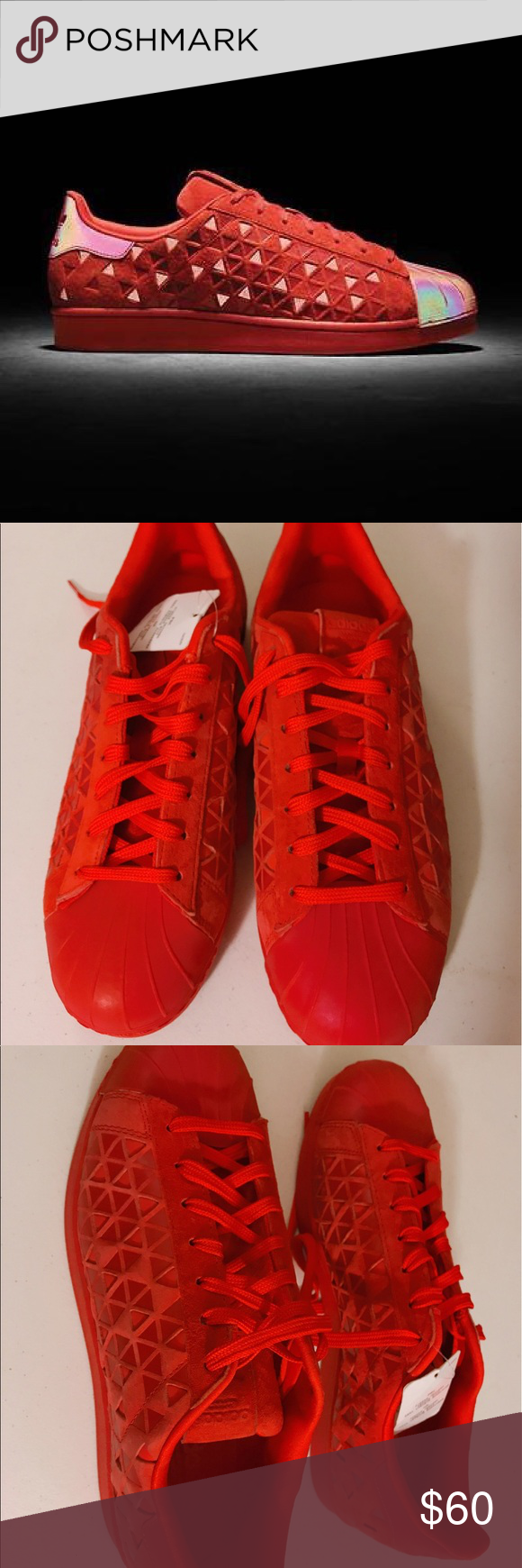 172fde300 NWT ADIDAS SUPERSTAR XENO RED REFLECTIVE -US 9 Men ADIDAS SUPERSTAR XENO  RED REFLECTIVE - Size US 9 Men. New with tags. Adidas Shoes Sneakers