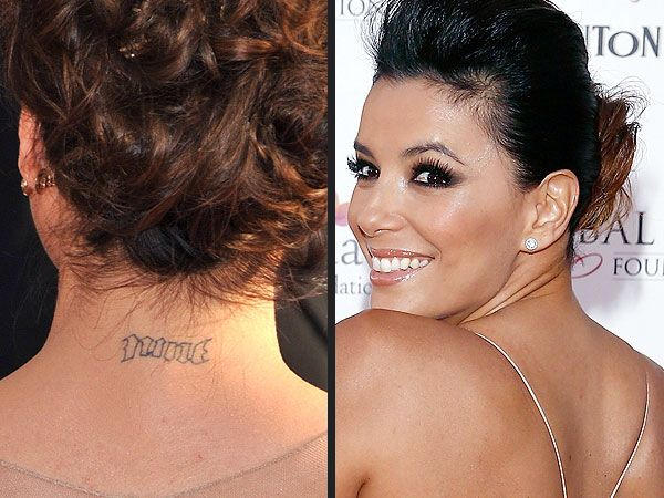 Desperate Housewives Star Eva Longoria Celebrated Her Marriage To Basketball Player Tony Parker With Not One Laser Tattoo Removal Tattoo Removal Eva Longoria