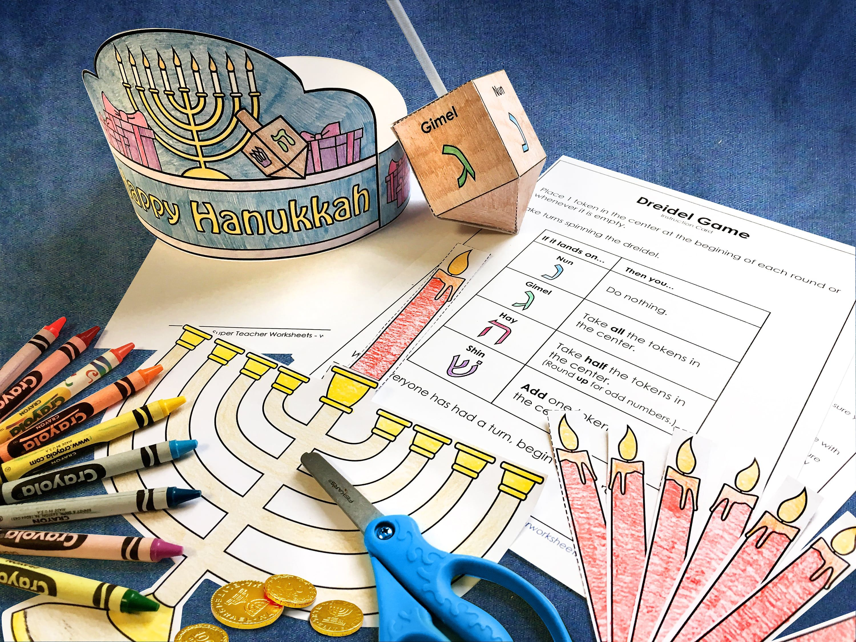 Light up your Hanukkah celebration with printable crafts and ...