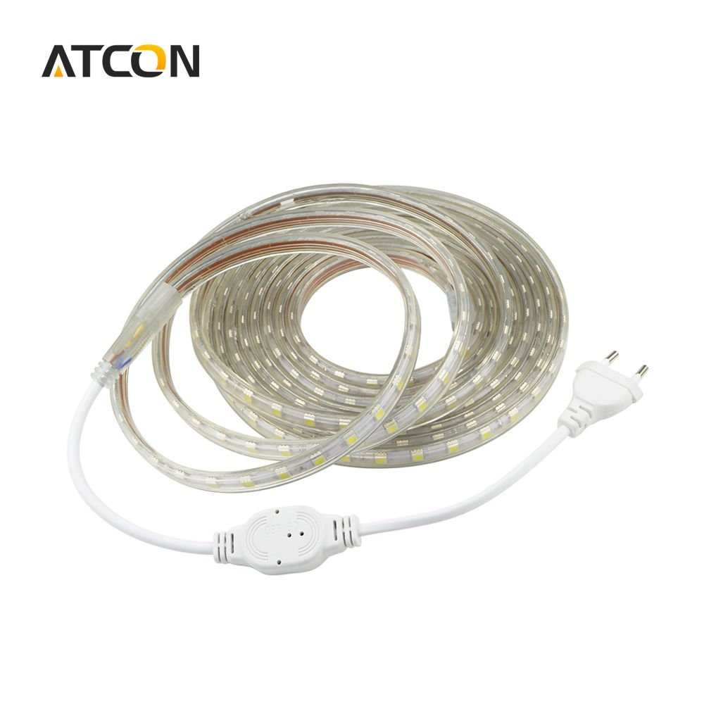Plug In Led Strip Lights Beauteous Ac 220V Silicone Tube Waterproof 5050 Smd Led Strip Light Tape 1M2M Design Inspiration