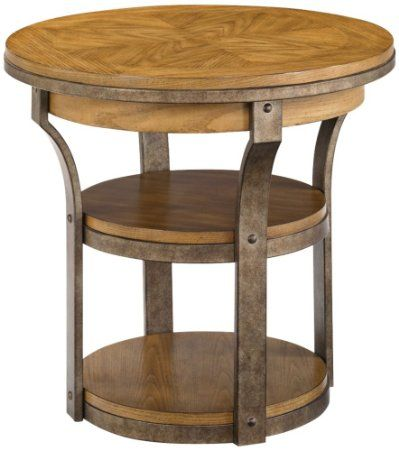 Amazon Com Hammary Vero Round End Table End Tables Distressed