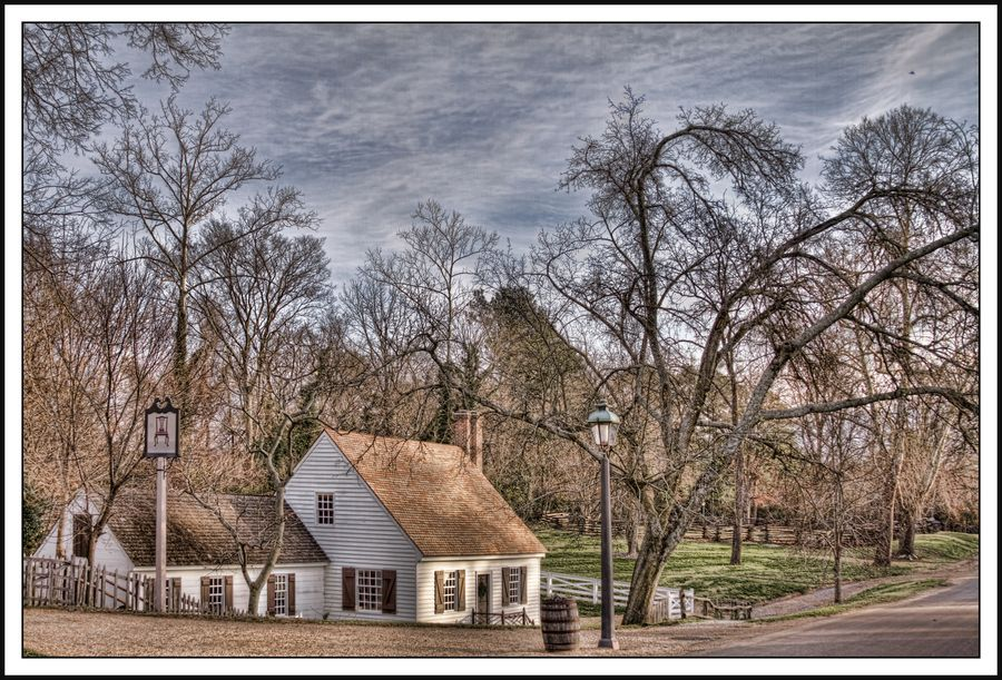 This is the Cabinet Maker's Shop in Colonial Williamsburg.