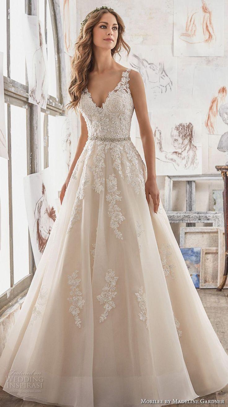 Morilee Frühling 2017 Braut ärmellos bestickten Riemen V-Ausschnitt schwer verschönern ...  #armellos #ausschnitt #bestickten #braut #fruhling #morilee #riemen #elbiseler
