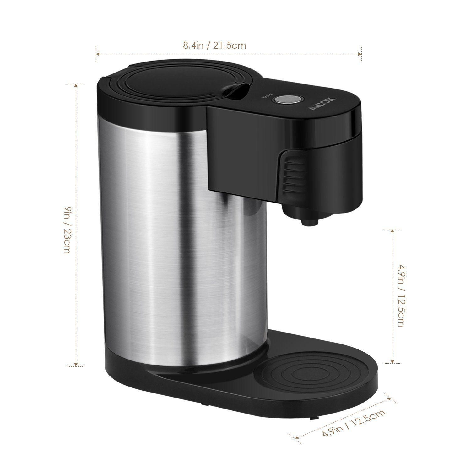 Amazoncom Aicok Single Serve Coffee Maker K Cup Stainless Steel