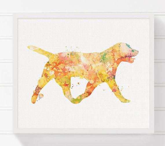 Labrador Dog Art Dog Art Print Dog Wall Decor by MiaoMiaoDesign ...