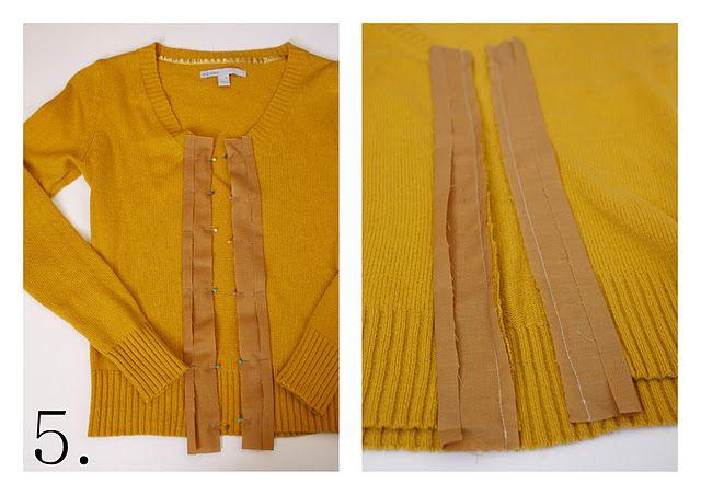 make an old shirt into a cardigan!