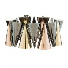 Large Mixed Metal Cone Bracelet