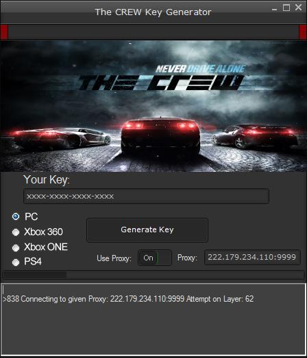 The Crew Serial Key Generator Pc Xbox 360 One Ps4 Ps4 Or Xbox One Xbox One Xbox
