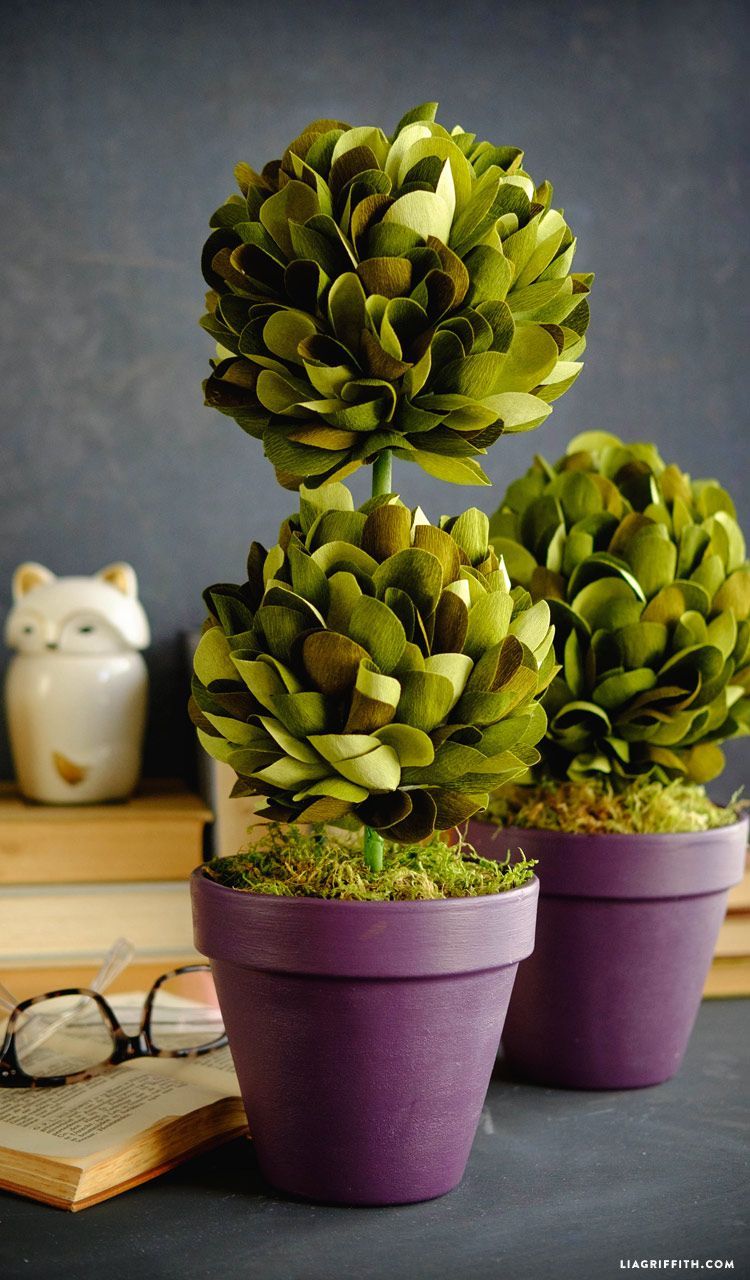 Crepe paper boxwood topiaries pinterest topiary crepe paper and crepe paper boxwood topiaries lia griffith mightylinksfo