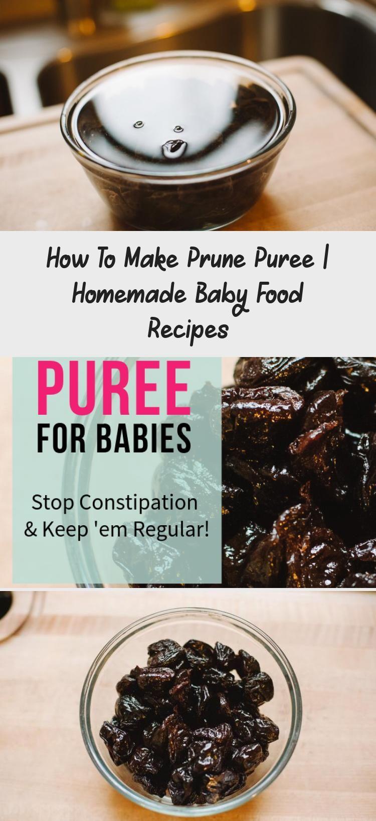How to Make Prune Puree Homemade baby foods, Homemade