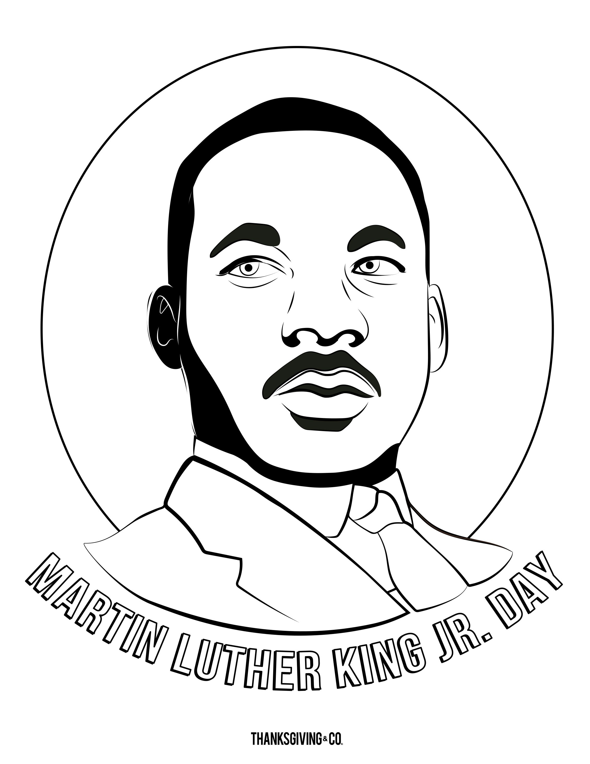 Share These Fun Martin Luther King Jr Coloring Pages With Your