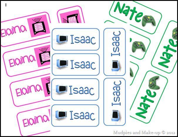 Free Printable Chore Reward Tickets Etiquetas para imprimir - free ticket maker template