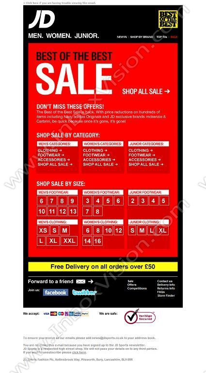 Company Jd Sports Subject Sale Online Now Instore Boxing Day