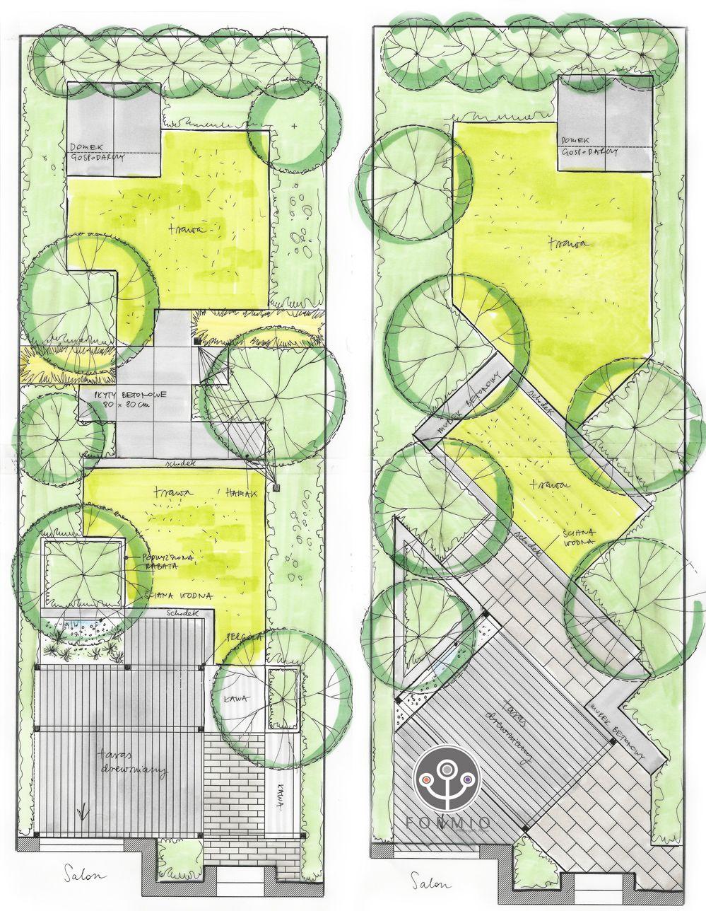 01 Projekt Malego Ogrodu Garden Design Pinterest Gardens