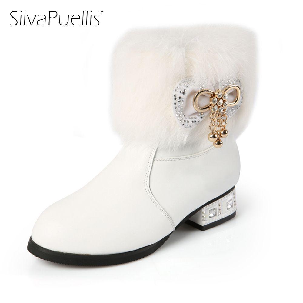 SilvaPuellis New Winter Children Fashion Snow Boots Girls
