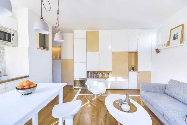 une petite surface am nag e paris studio pinterest paris cuisiner et haussmanien. Black Bedroom Furniture Sets. Home Design Ideas