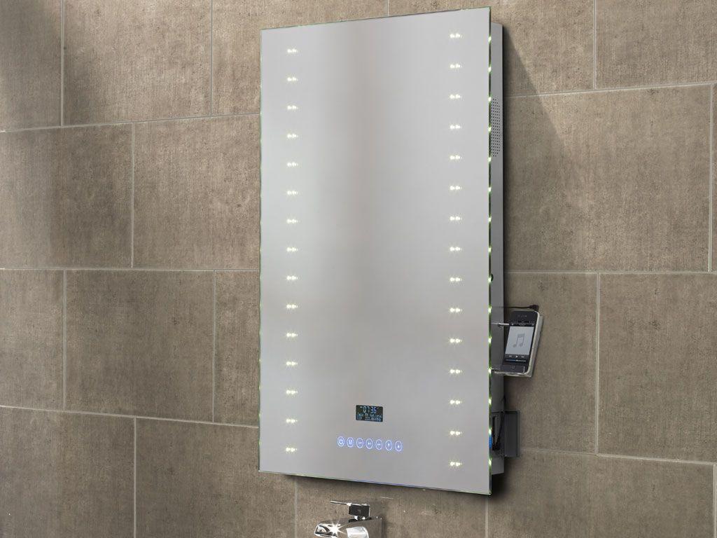 Audio Image Illuminated Bathroom Radio Mirror From Roper