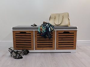 Stupendous Kendal Wooden Storage Bench With Seat Cushion Bamboo 3 Camellatalisay Diy Chair Ideas Camellatalisaycom