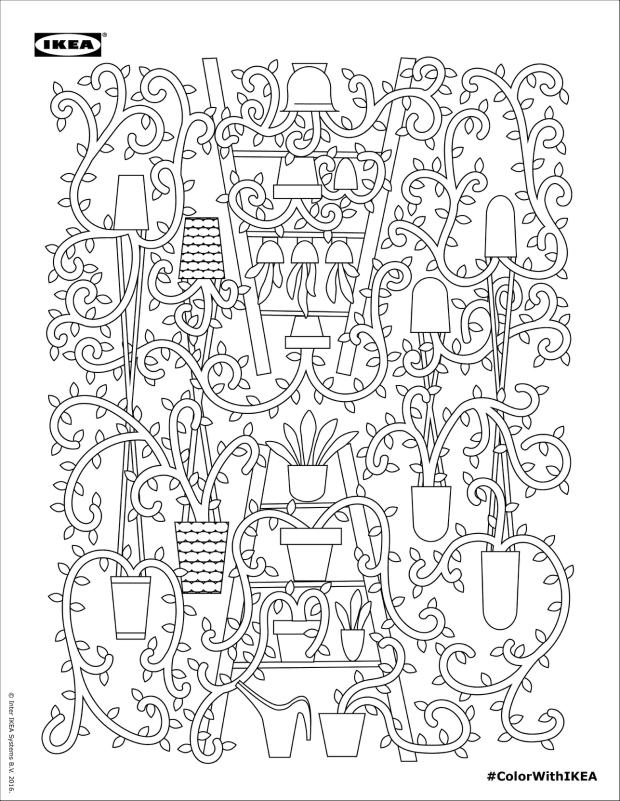 colorwithikea4 | Coloring pages | Pinterest | Colorear, Ikea y Anti ...