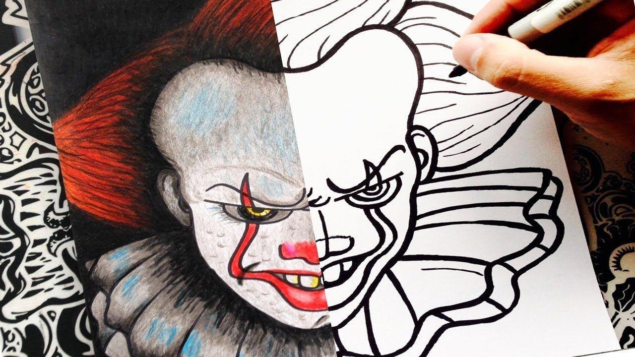 Como Dibujar A It Eso Paso A Paso Pennywise How To Draw It The Clo Como Dibujar Cosas Dibujos Dibujo Paso A Paso
