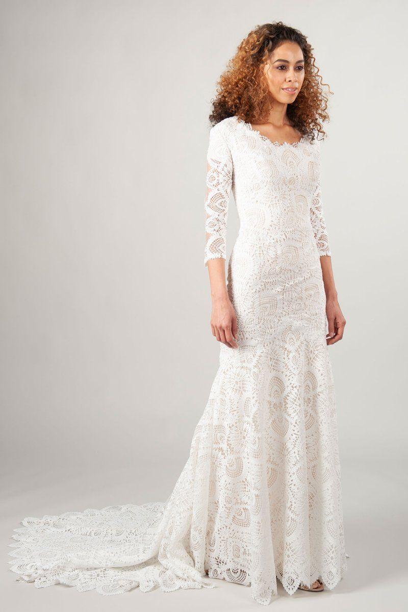 edc39ffe820 Modest Wedding Dresses   Declan – LatterDayBride