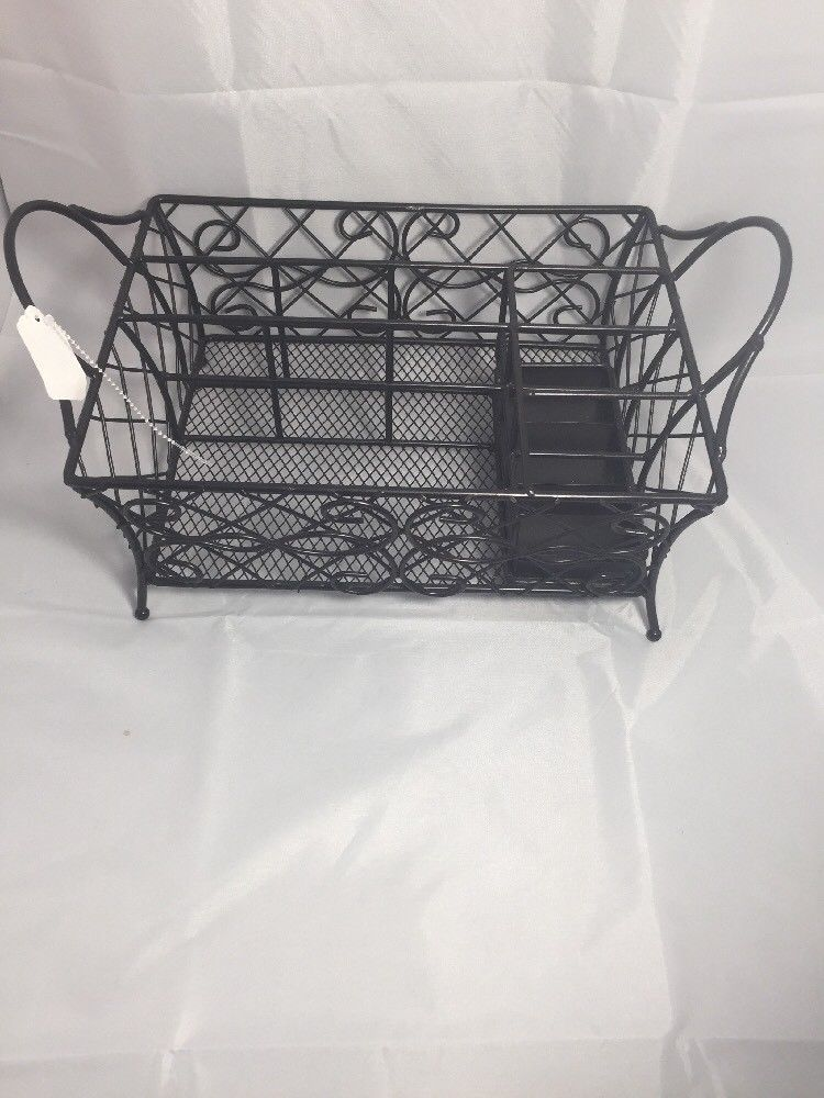 Stylish Sturdy Oil Rubbed Bronze Metal Wire Small Dish Drainer
