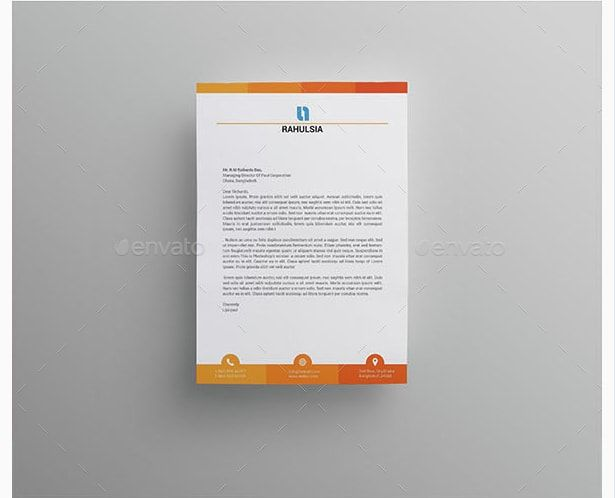 Stationery Letterhead Template For Word Business Corporate