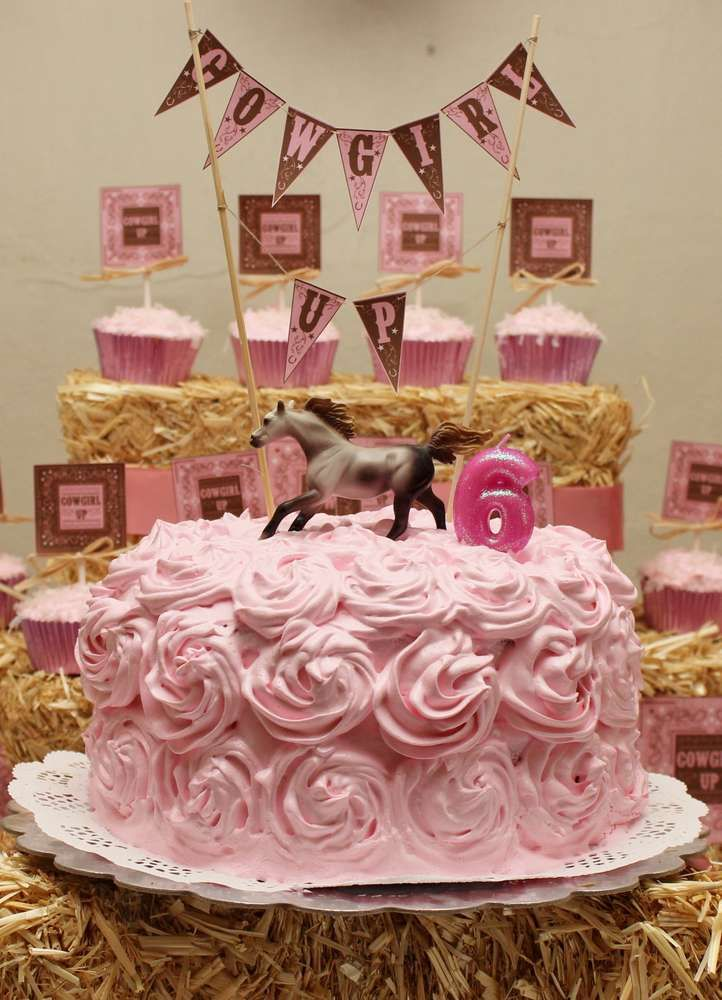 Pink Cowgirl Birthday Party Ideas  Photo 1 Of 14  Catch -8905
