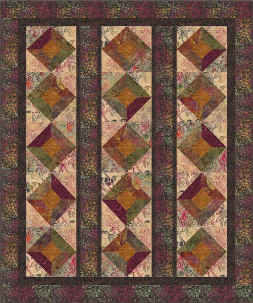 Batik Squares Quilt Pattern BS2-257 (advanced Beginner