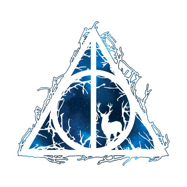 Harry Potter Deathly Hallows Prongs In The Forbidden Forest Branches Voids And Silhoue Harry Potter Stickers Harry Potter Drawings Harry Potter Tattoos
