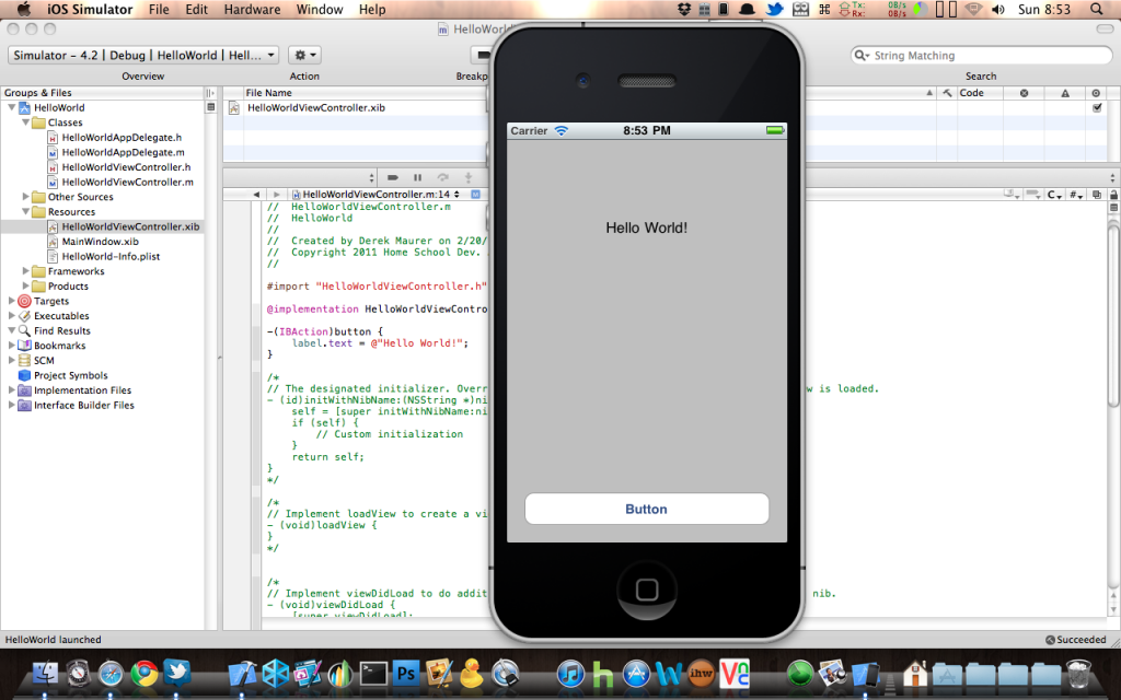 iOS Development Tutorial Series Hello World Mobile