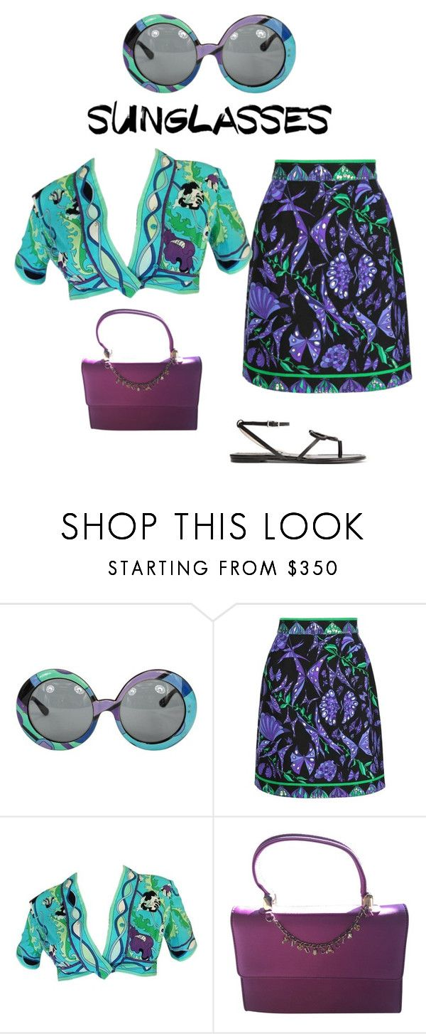 """Retro sunglasses - Pucci"" by shistyle on Polyvore featuring Emilio Pucci, pucci and RetroSunglasses"