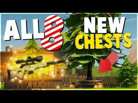 Fortnite Christmas Tree Locations.All 8 New Chest And Tree Locations Fortnite Battle Royale
