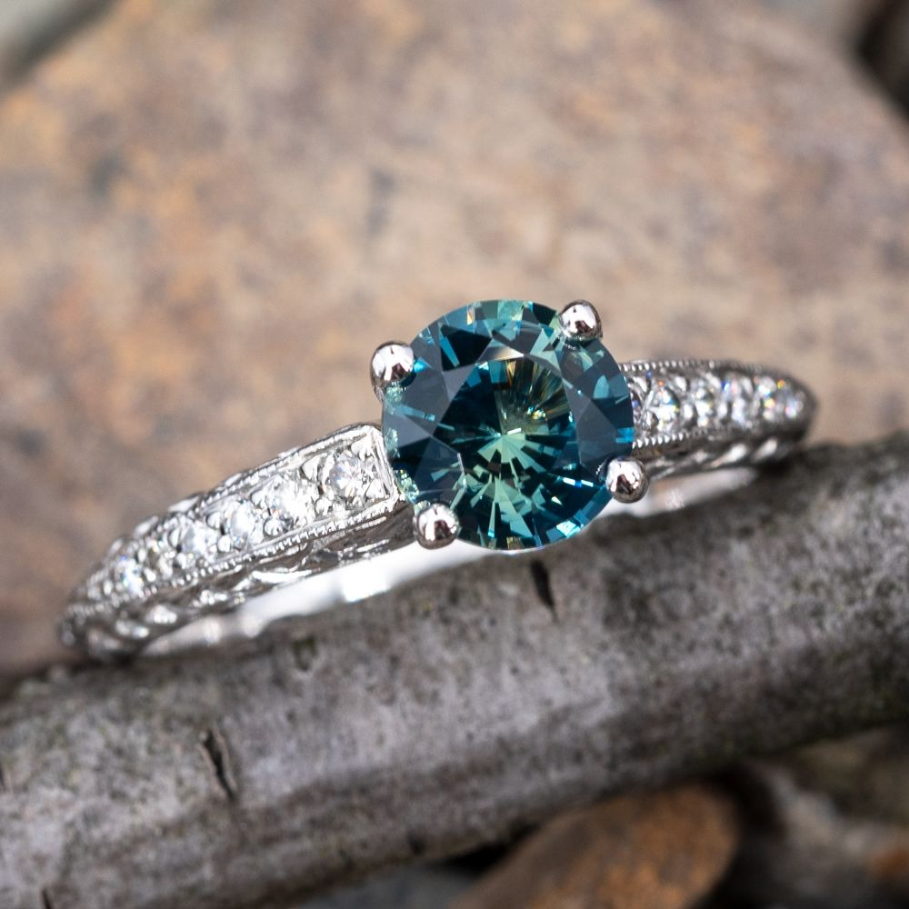 Details about  /Victorian Sapphire Gems Ring 925 Fine Silver Diamond Ring Valentine Gift Ring