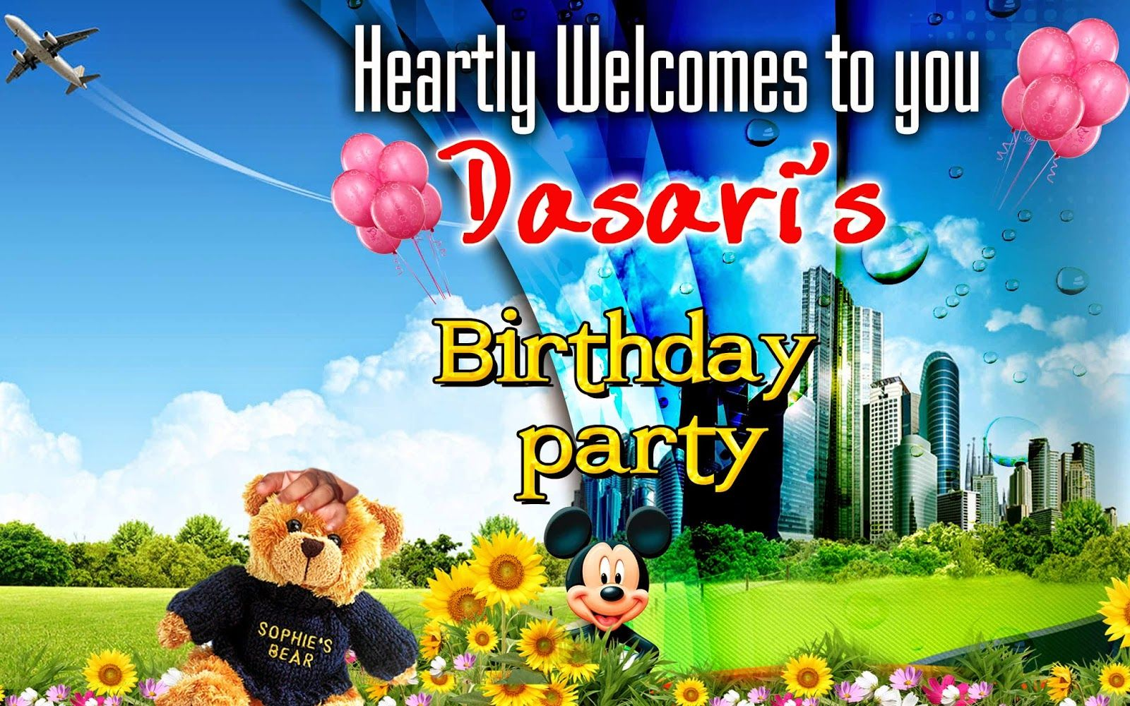 Birthday Banner Psd File Free Downloads Free Birthday Stuff Happy Birthday Greeting Card Happy Birthday Template