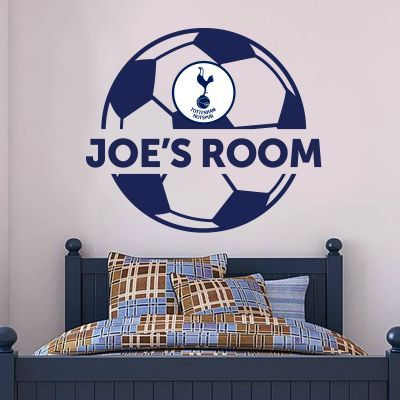 tottenham hotspur football club personalised ball & name wall decal
