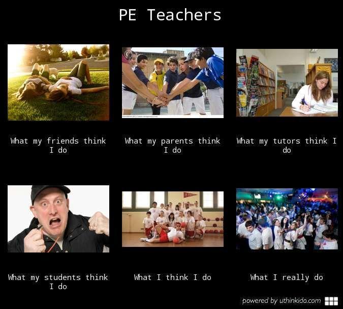 Pe Teachers What People Think I Do What I Really Do Meme Image