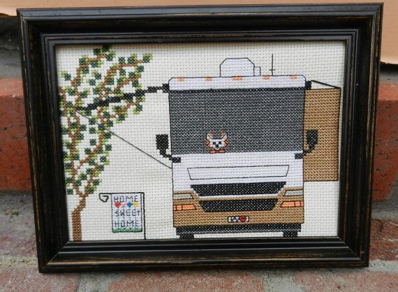 Camping Cross Stitch PATTERN RV Home Sweet By CampCrossStitch 600