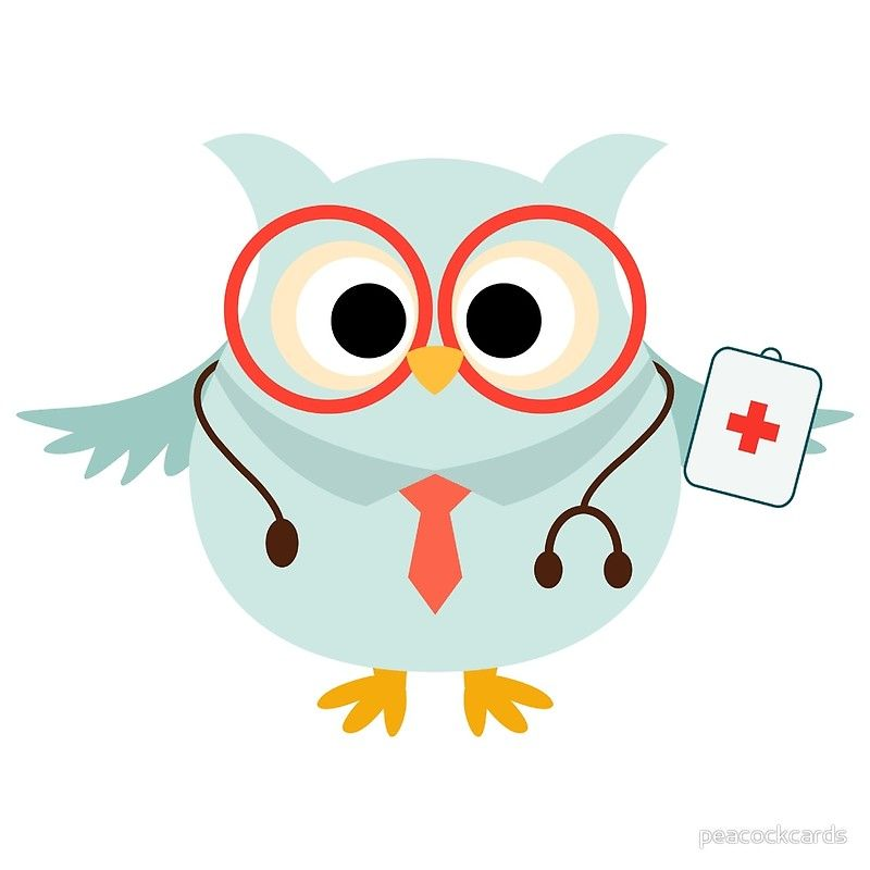 Medical Profession Owl Doctor Poster By Peacockcards Clip Art Vintage Clip Art Paper Owls